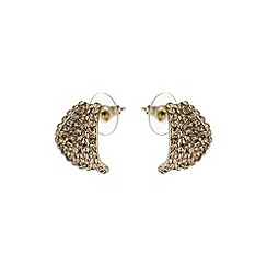 Mikey London - Gold leaf earring