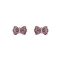 Mikey London - Pink bow earring
