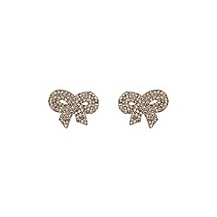 Mikey London - Gold large bow earring