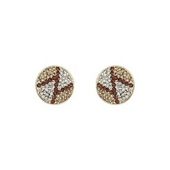Mikey London - Brown round z earring