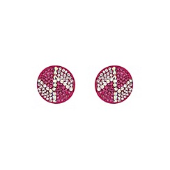Mikey London - Fuchsia round z earring