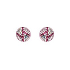 Mikey London - Pink round z earring
