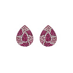 Mikey London - Fuchsia oval earring