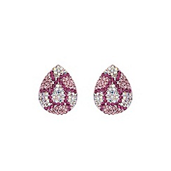 Mikey London - Pink oval earring