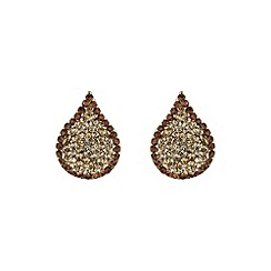 Mikey London - Brown tear drop earring