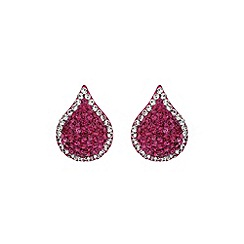 Mikey London - Fuchsia tear drop earring
