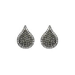 Mikey London - Hematite tear drop earring