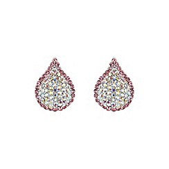 Mikey London - Pink tear drop earring