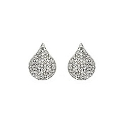 Mikey London - White tear drop earring
