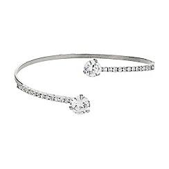 Mikey London - White twin crystal lock cuff bracelet
