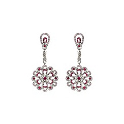 Mikey London - Pink drop fillagry earring