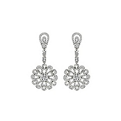 Mikey London - White drop fillagry earring