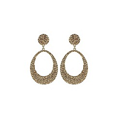 Mikey London - Gold oval design earring