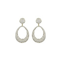 Mikey London - Gold and white oval design earring