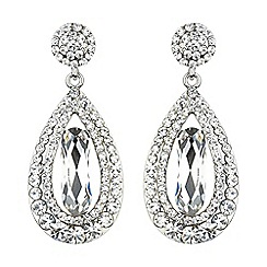 Mikey London - Oval design multi crystals drop earring