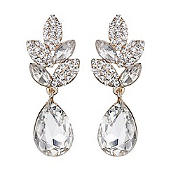 Mikey London - Twisted design drop crystal earring