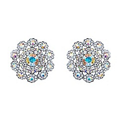 Mikey London - Azure blue filigree round raised stud earring