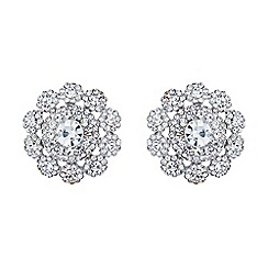 Mikey London - White filigree round raised stud earring
