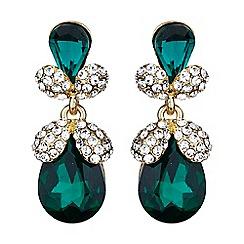 Mikey London - Green twin oval fruit crystal drop earring
