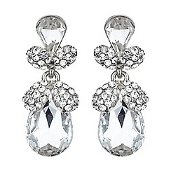 Mikey London - White twin oval fruit crystal drop earring
