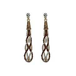 Mikey London - Brown long twisted earring