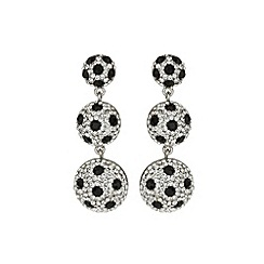 Mikey London - Black 3 drop earring with spots