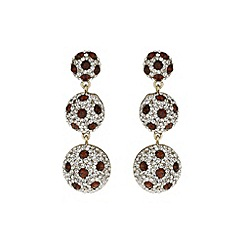 Mikey London - Brown 3 drop earring