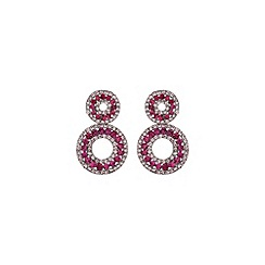 Mikey London - Pink round design earring