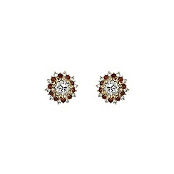 Mikey London - Brown flower stud earring