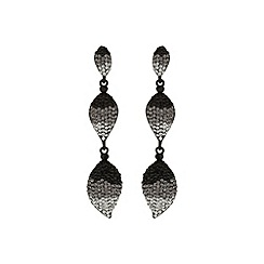 Mikey London - Black 3 drop earring