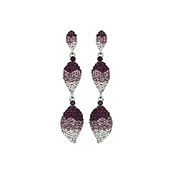 Mikey London - Purple 3 drop earring