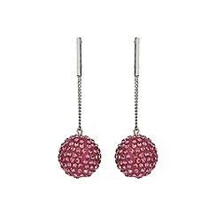 Mikey London - Pink large ball drop earring