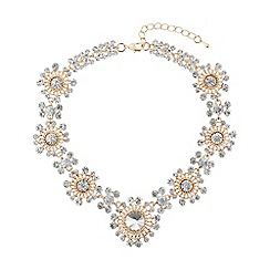 Mikey London - Round crystals linked necklace
