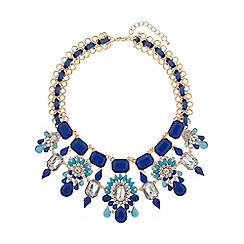 Mikey London - Multi crystal flowers linked necklace