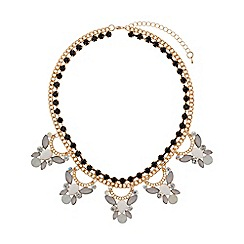 Mikey London - Crystal pendant triple necklace