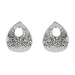 Mikey London - White heart shape stud