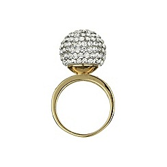 Mikey London - Gold single stone cluster ring