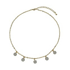 Mikey London - Gold multi 9mm ball necklace