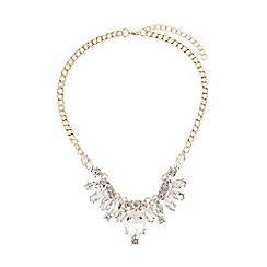 Mikey London - Filigree crystal pendant necklace