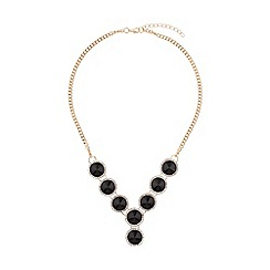 Mikey London - Circle enamel marquise linked necklace