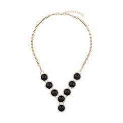 Mikey London - Circle enamel marquise linked necklace
