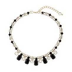 Mikey London - Hanging crystals linked crystals necklace