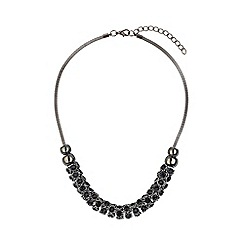 Mikey London - Crystal beads on rope necklace