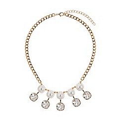 Mikey London - Drop crystals pearls linked necklace