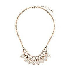 Mikey London - Drop pearls crystals linked necklace