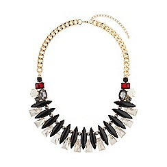 Mikey London - Black eclipsce crystals linked design choker