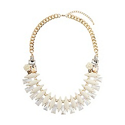 Mikey London - White eclipsce crystals linked design choker