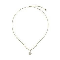 Mikey London - Gold cubic stone curved cubic link pendant