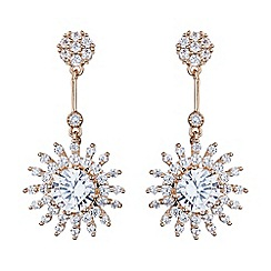 Mikey London - Rose gold sun design hanging cubic earring