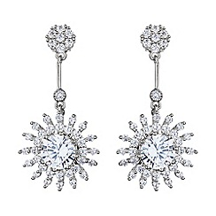 Mikey London - White sun design hanging cubic earring